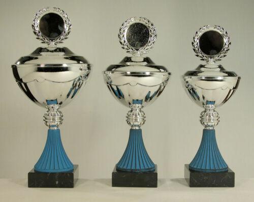 blau 35 cm 160 d 31 cm 120 d 33 cm 140 d 3 Pokale silber oder goldfarben