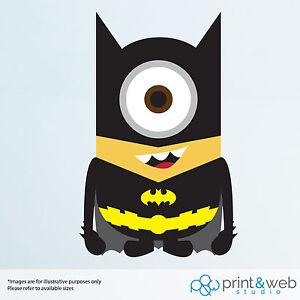 Image Is Loading Minion Batman Wall Decal Sticker Bedroom Vinyl Kids
