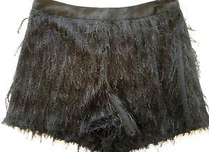 Herzhaft Topshop Premium Feather Hotpant Shorts Summer Party Size 10 Eur 38 Bnwt Damenmode
