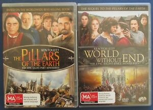 PILLARS-OF-THE-EARTH-amp-WORLD-WITHOUT-END-16-PART-MINI-SERIES-GOOD-CONDITION