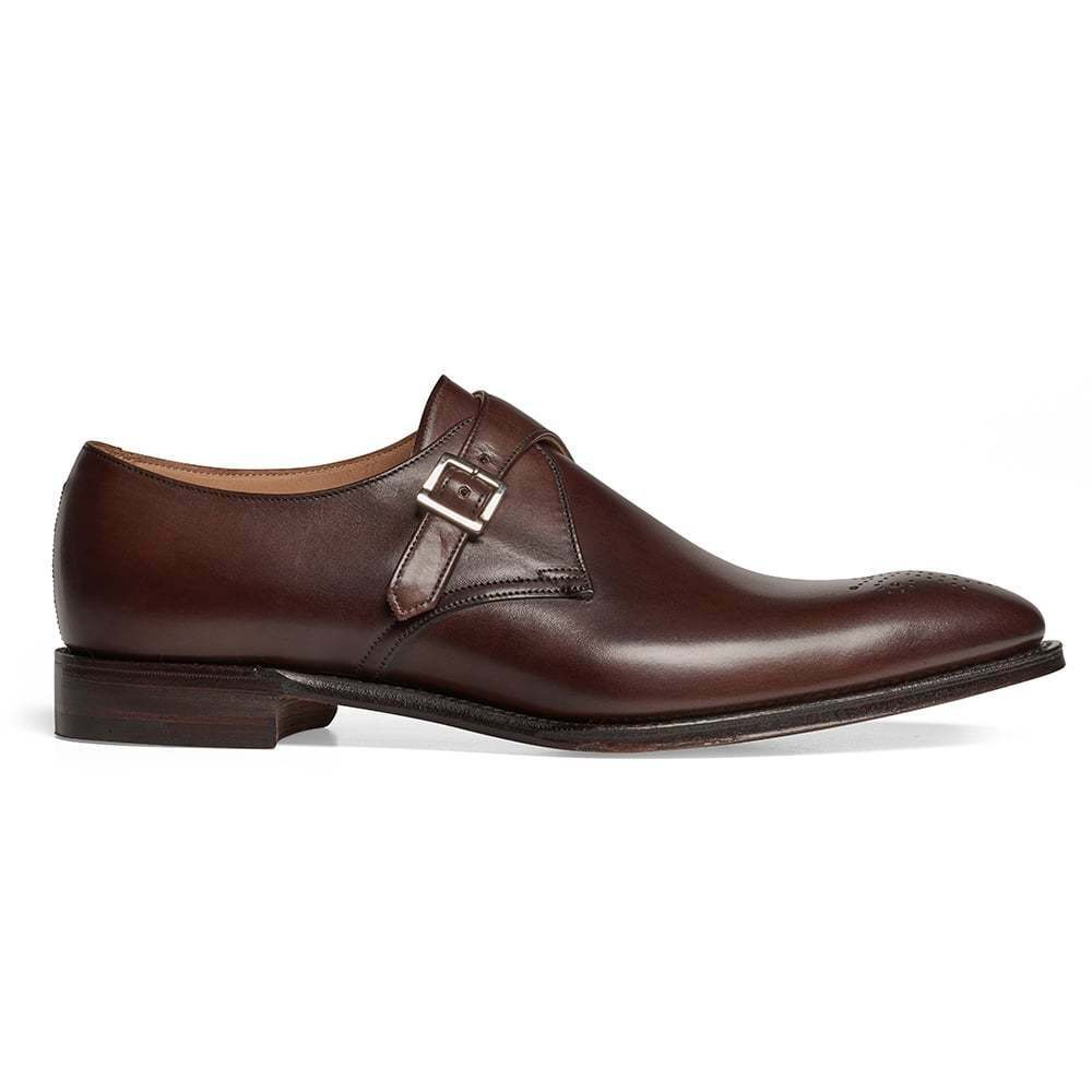 Men Bespoke Leather Dark braun Leather Bespoke schuhe,Classic Formal Single Monk Strap schuhe af66ca
