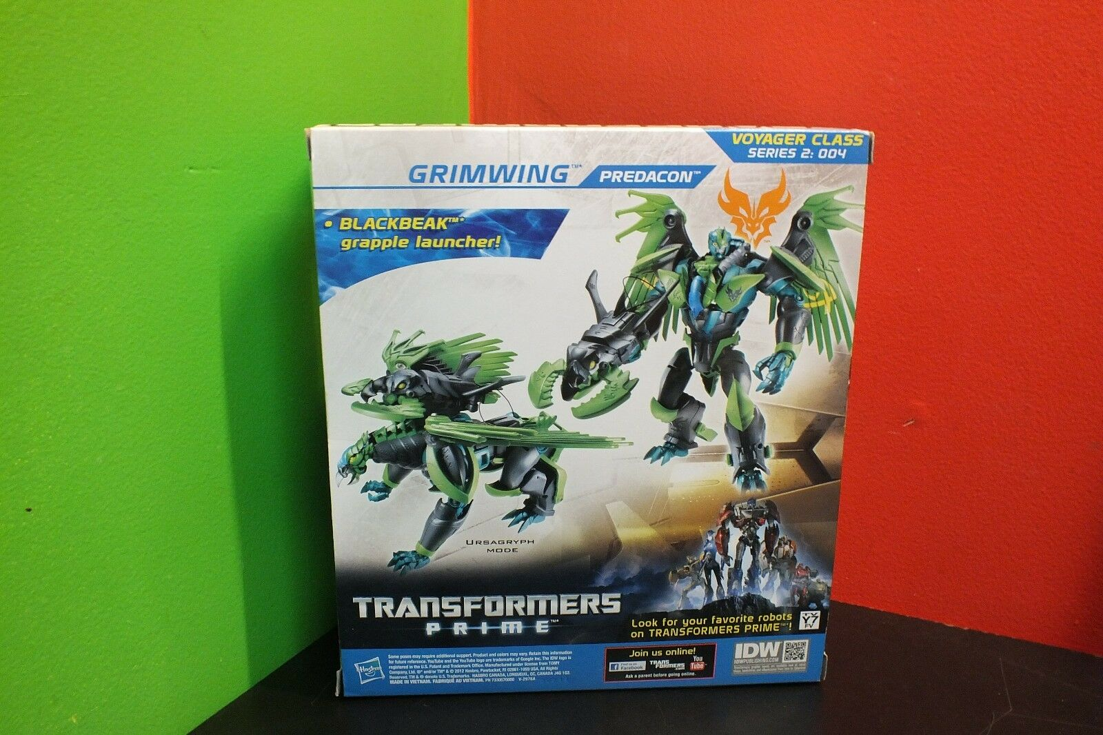 Hasbro Transformers Prime Beast Hunters Predacon Grimwing Action Action Action Figure UNOPENED 62b193