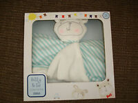 Tesco Billy & Sid Blue White Teddy Bear Baby Comforter Blankie In Box 2013