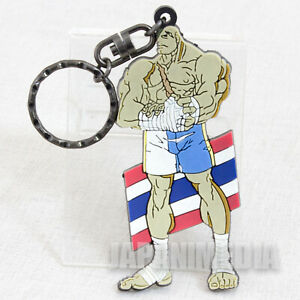 RARE-Street-Fighter-ZERO-Sagat-Rubber-Mascot-Key-Chain-JAPAN-GAME-CAPCOM