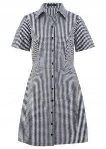 Sommerliches Damen Blusenkleid,schwarz-weiß-kariert ...