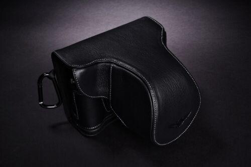 Original De Cuero Real Completo Cámara Funda bolsa cubierta para Fujifilm x-pro2 Color Negro