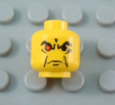 LEGO HEAD  ANGRY RED EYE FOR MINIFIGURE NEW