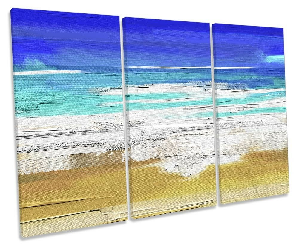 blu FLORA Beach Surf REPRO TREBLE TELA parete opera opera opera d'arte art print 8c8641