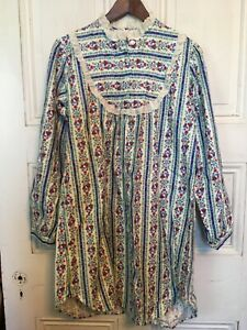 Lanz-Of-Salzburg-NOS-Vintage-Red-Heart-Short-Cotton-M-Night-Gown-No-Tag-USA-Made
