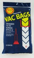 Eureka Type U Bags 3 Pack Vacuum Cleaner Accessories
