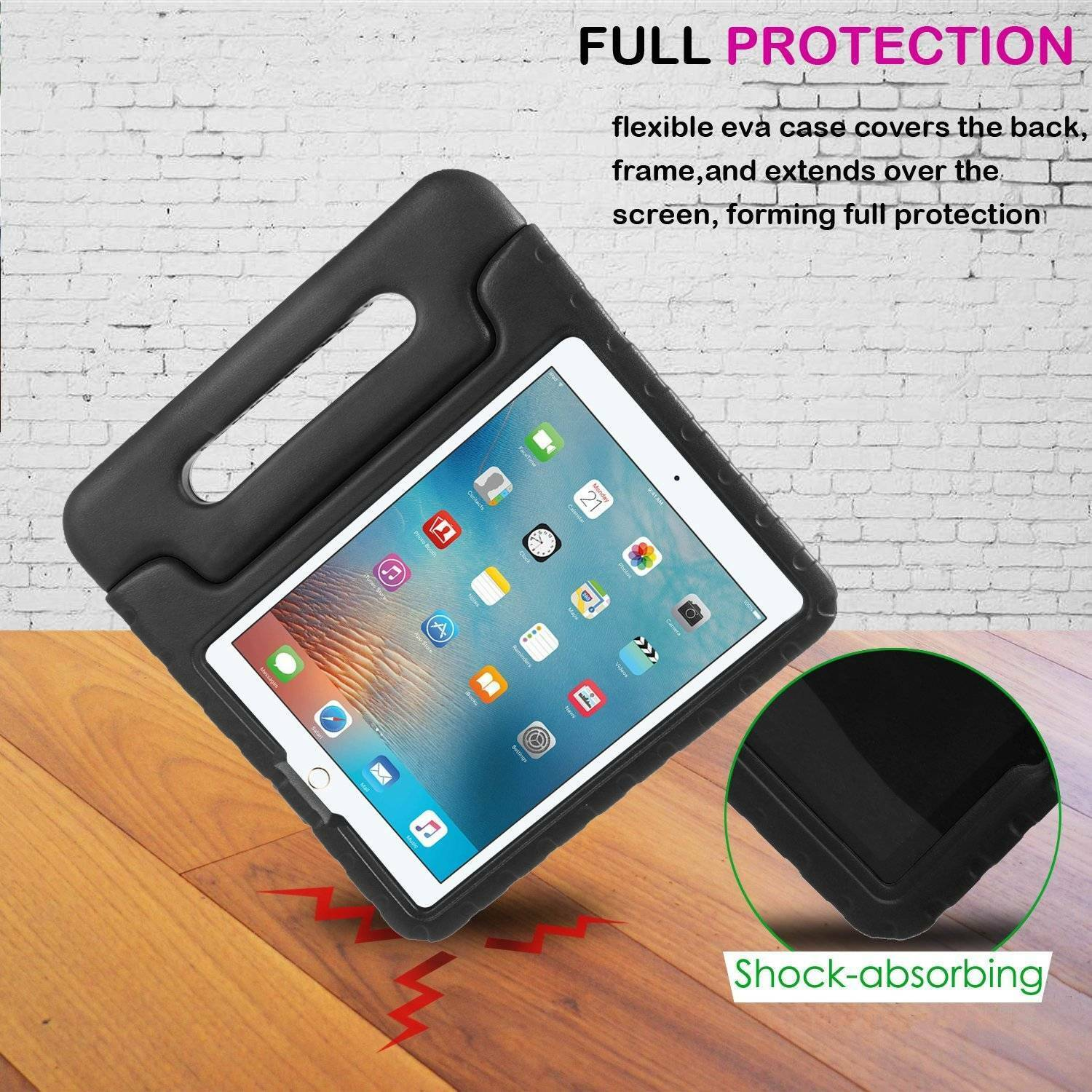 For iPad Pro 9.7 5th 6th Gen Kids Safe EVA Handle Case Cover