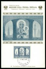 VATICAN MK 1966 POLAND MADONNA TSCHENSTOCHAU KATHEDRALE MAXIMUM CARD MC CM bo37