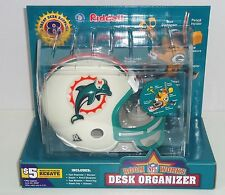 NFL MIAMI DOLPHINS MINI HELMET DESK ORGANIZER~SEALED CASE OF 4~BLOWOUT PRICED!!!