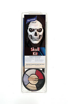 Graftobian Professional Skull Makeup Kit, Halloween, Special FX, Stage & Theater