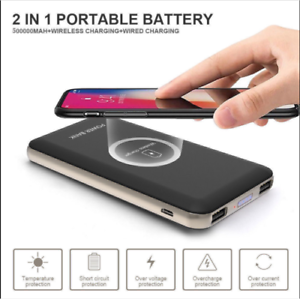 Wireless-Charger-Power-Bank-50000mAh-QI-Battery-Charger-Pad-Portable-USB-Type-C