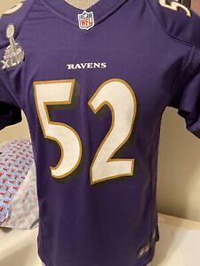 Baltimore Ravens Ray Lewis #52 Nike Elite Jersey XL 18-20 | eBay