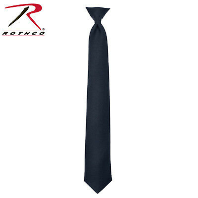 """Solid NEW Dark Brown Police Clip-on Neck Tie 18/"""" or 20/"""" Polyester"""