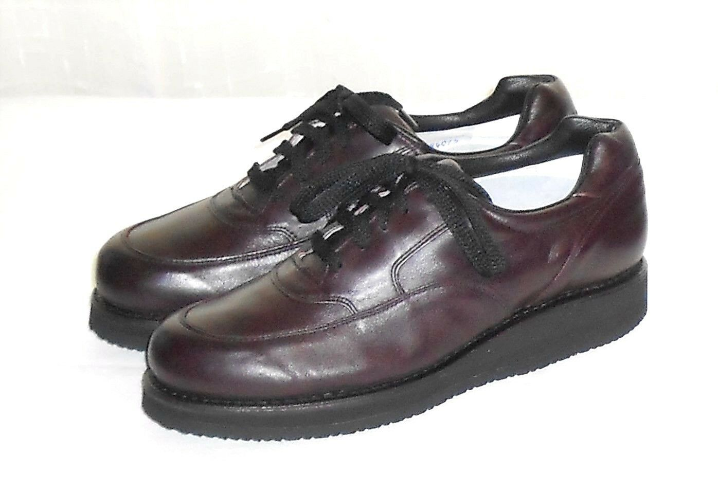 P W Minor Extra Depth Burgundy Leather Comfort Walking Oxford Men's 7.5 D/A