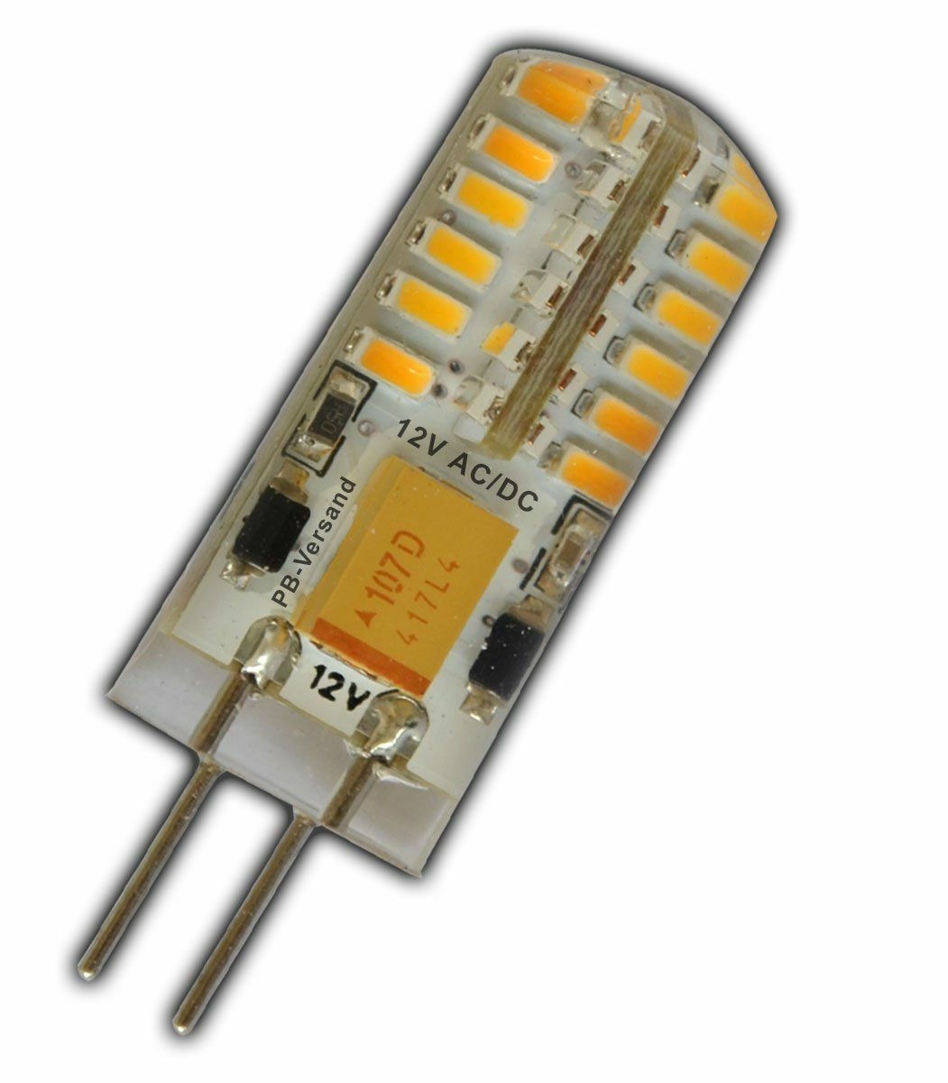 G4 LED Capsule Lamps 2w 12v 27000k 25,000 Hrs Life AC DC