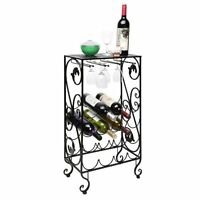 16 Bottle And 8 Wine Glass French Grapevine Motif Wine Storage Organizer / Displ on sale