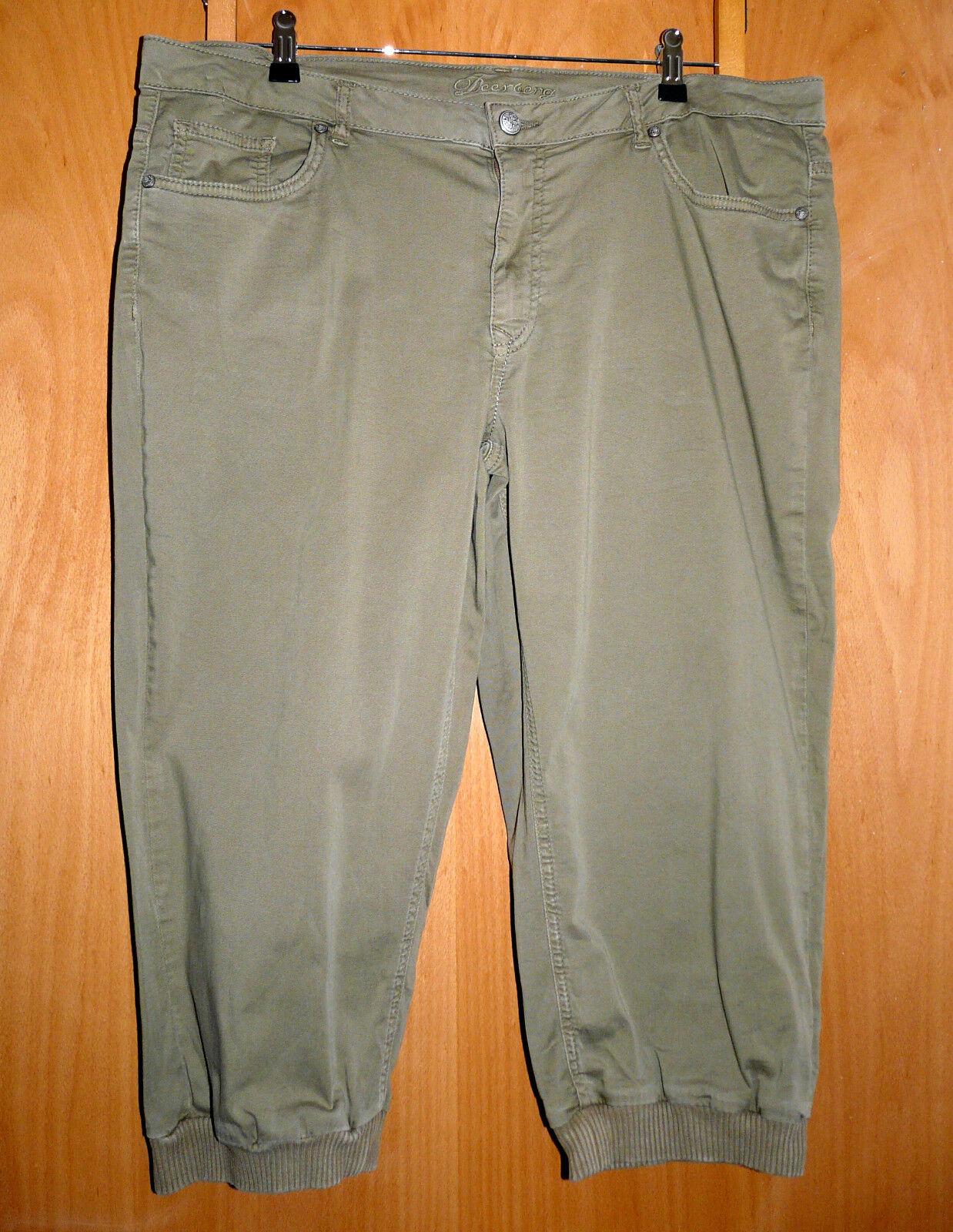 Deerberg 3 4 Hose Capri Stretch  Samanta  Gr. 46   48 reetgrün SUPER