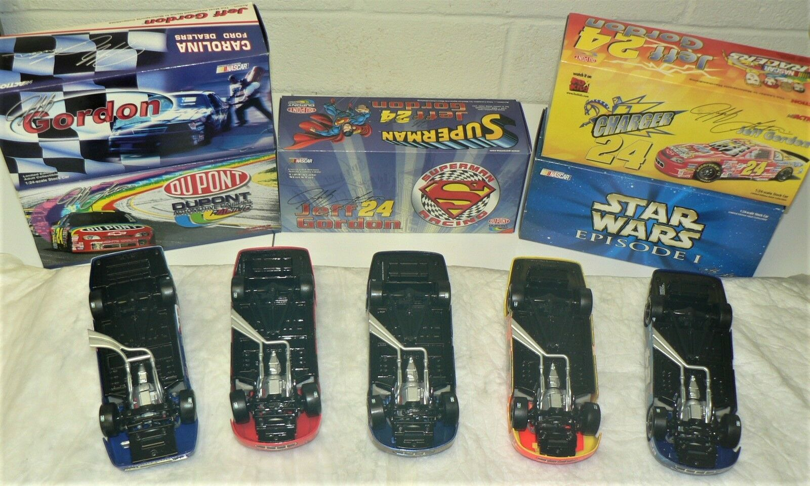 NASCAR - JEFF GORDON - Lot Lot Lot of 5 (1999) Limited Collectable Cars by ACTION Racing 6db075