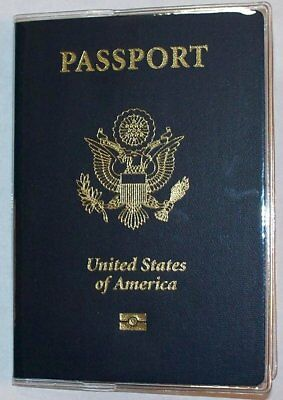 USA Quality Fast Ship 2x Passport Heavy Duty Clear Vinyl Cover Protector