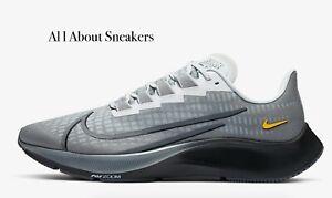 Nike-Air-Zoom-Pegasus-37-034-di-particelle-Grigio-034-Uomo-Scarpe-da-ginnastica-LIMITED-STOCK-Tutte