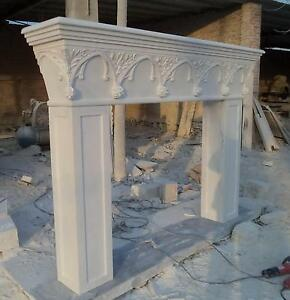 Marble Fireplace Mantel French Gothic White Gothic Arch
