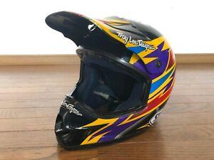 Vintage-Motocross-SHOEI-Helmet-Troy-Lee-VF-X2-DAMON-BRADSHAW-Size-M