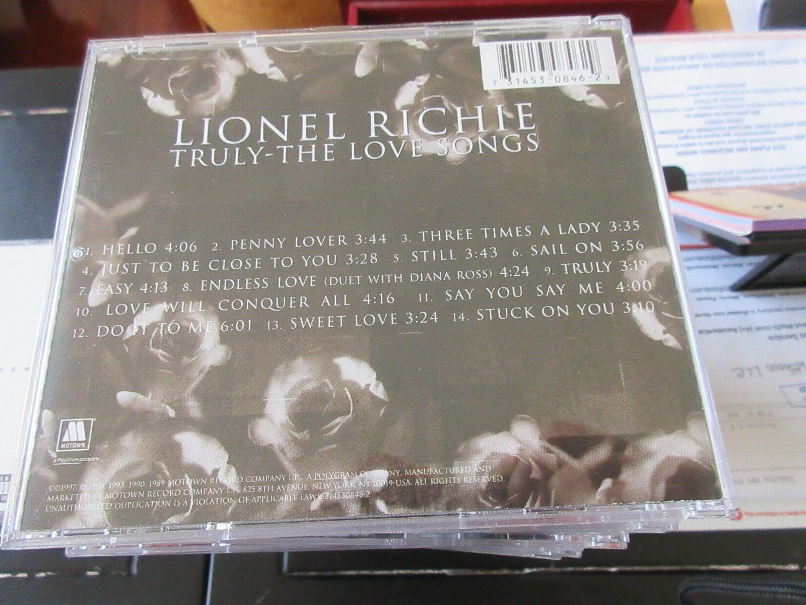 Lionel Richie , Truly , The Love Songs , CD 69655512226