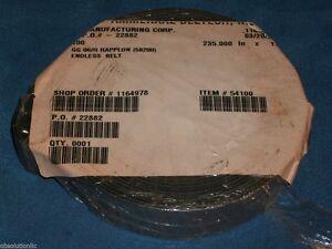 """AMMERAAL BELTECH 54100 GG 06/R BLUE XNBR COATED RAPPLON ENDLESS BELT 235""""X 1"""""""