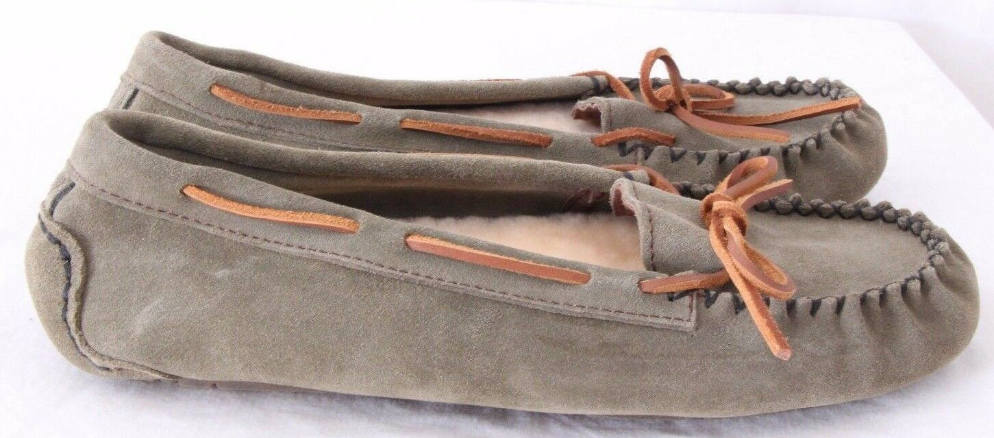 Old Friend 441320 NEW Jemma Shearling Slippers Driving Moccasins Women's US 12