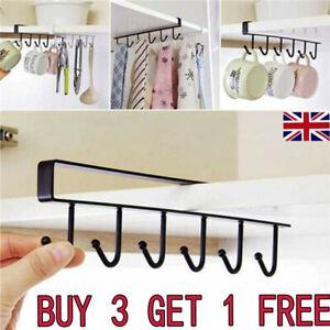 Storage-Cabinet-Hanging-Cup-Shelf-Hook-Holder-Organiser-Cupboard-Kitchen-Rack-TK