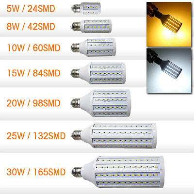 E27 E14 220V 5W 8W 10W 15W 20W 25W 30W 5630 SMD LED Corn Lamp Light Bulb