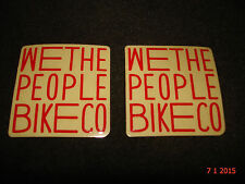 2 AUTHENTIC SMALL WETHEPEOPLE BMX BIKES RED STICKERS #49 DECALS AUFKLEBER