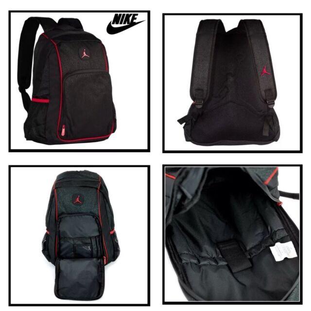 0448818afc NIKE AIR JORDAN LEGACY ELITE BACKPACK 9A1456 KR5 BLACK RED NEW NWT SCHOOL  BAG