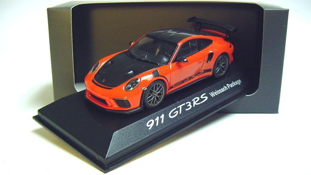 1 43 Minichamps 2018 Porsche 911 991 II GT3 RS lavaOrange dealer promo