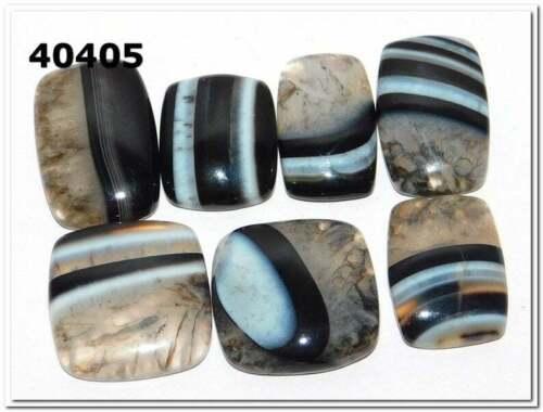 Details about  /Natural Beautiful Banded Black Onyx Cabochon Gemstone Wholesale Lot LA-40402