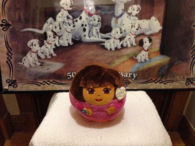 6a5f2dd50e3 Ty Nickelodeon Beanie Ballz 8   Plush Dora The Explorer Medium Ball ...