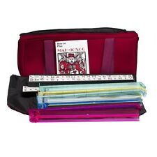 American Mahjong Set in Burgundy Bag, 4 Color Pushers / Racks Western Mahjongg