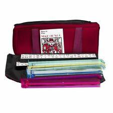 Western Mahjong Set in Burgundy Bag With All in one combo racks/pushers