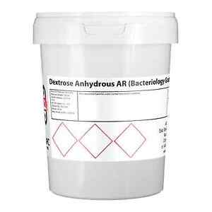 D (+) Dextrose Anhydrous 1KG *Packed in Plastic Tub* 5055914743746