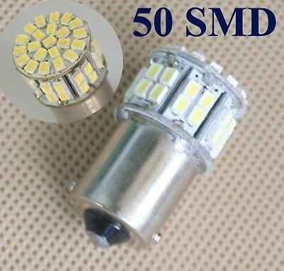 3x1156 BA15S P21W Weiß 50 SMD LED Auto-Rücklicht Blinkleuchte-Signal-Licht Lampe