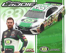 "2017 COREY LAJOIE ""DUSTLESS BLASTING 2ND VER"" #83 NASCAR MONSTER ENERGY POSTCARD"