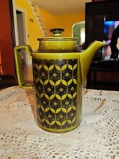 Vintage Royal Sealy Coffee/Tea Pot/ Pitcher Green Made in Japan