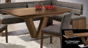 Esstisch ausziehbar nussbaum  Wössner Dining+Comfort Esstisch ausziehbar Auszugstisch nussbaum ...