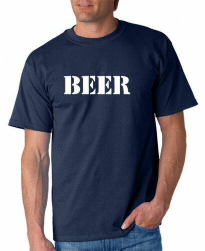 Beer T-shirt Drinking Funny Party 5 Colors S-3XL