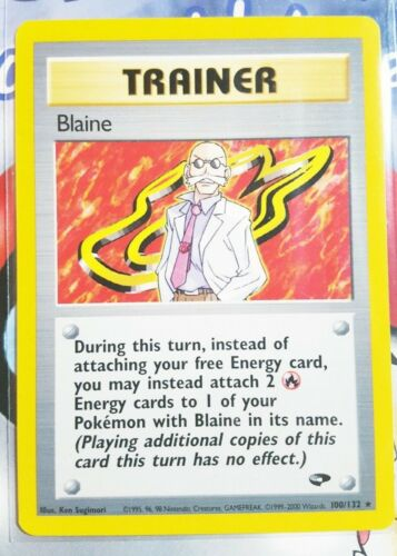 Blaine #100//132 GYM CHALLENGE Pokemon Cards NM//EX
