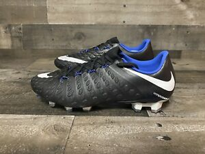 NEW-Nike-Hypervenom-Phantom-III-3-FG-Size-7-5-Black-Blue-Soccer-Cleat-852567-002